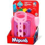 Brinquedo Didático e Educativo Carrinho com Caçamba Cardoso Toys Baby Land Mipuxa Rosa