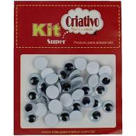 Olhos Móveis Criativo 10mm Kit c/ 40 Unid