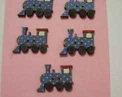 Botões Divertidos Kit Super Criativo Trem PT c/ 5 Unidades