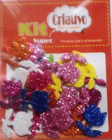 Aplique Super Brilho Tulipa Kit Super Criativo Jumbo PT c/ 24 Unidades
