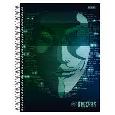 Caderno Universitario 10 Materias Hackers 200 Folhas São Domingos