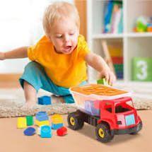 Caminhão Didático Dino Sabidinho Blocos de Encaixar - Cardoso Toys