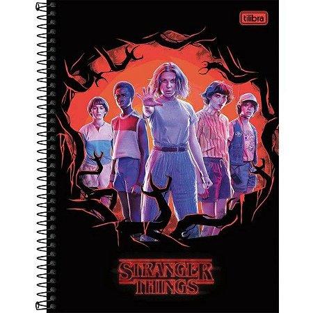 Caderno Univ 1x1 80f CD 294136 Stranger Things Tilibra