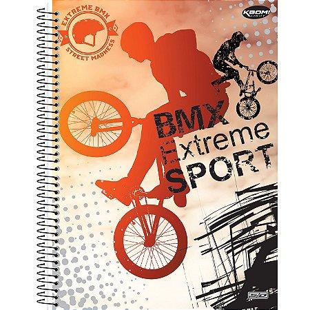 CADERNO ESPIRAL 1/4 CD 96 FLS KBOM BMX