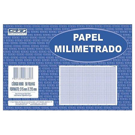 PAPEL MILIMETRADO BLOCO C/ 50 FLS 215MM X 215MM