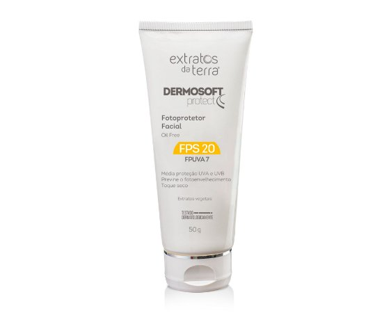 Dermosoft Protect Fotoprotetor Facial FPS 20 - 50 g