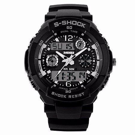 82671811efc Relógio Masculino Militar Skmei S-shock Digital Prova D água 50 metros