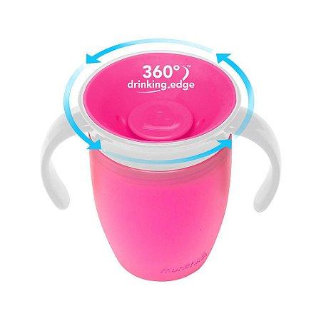 Copo Treinamento 360° Rosa - Munchkin
