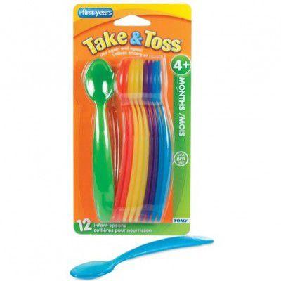 Kit 12 Colheres Coloridas - Take & Toss