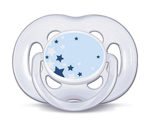Chupeta Noturna Freeflow Azul 6-18 meses - Philips Avent