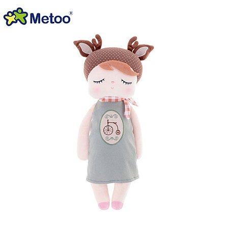 Boneca Metoo Dolls Angela Doceira Retro Deer Marrom 33cm