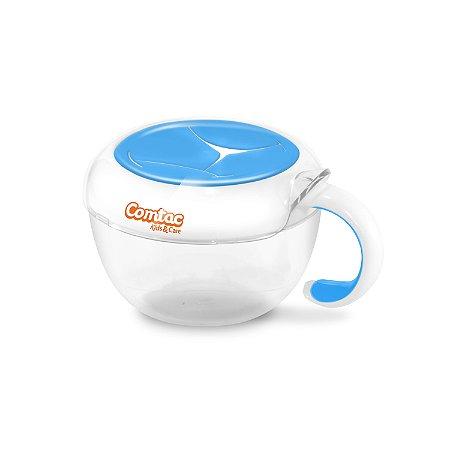 Porta Lanches com Tampa de Silicone Azul - Comtac Kids