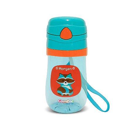 Copo Plástico com Canudo Let's Go Guaxinim - Comtac Kids