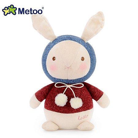 Pelúcia Metoo Bebê Coelho Azul Vermelho