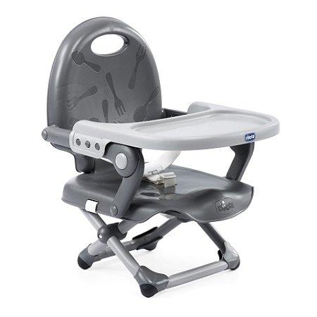 Cadeira de Alimentação Pocket Snack Grey - Chicco