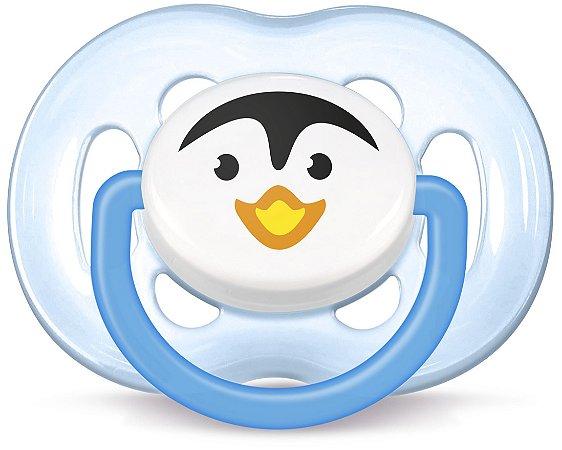 Chupeta Avent Freeflow Pinguim 6-18 meses