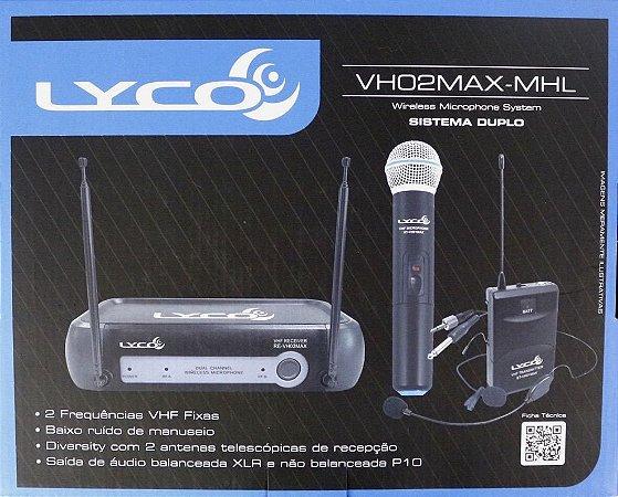 Microfone sem Fio para Voz Lyco VH02 MAX-MHL (Mão + Heatset + Lapela)