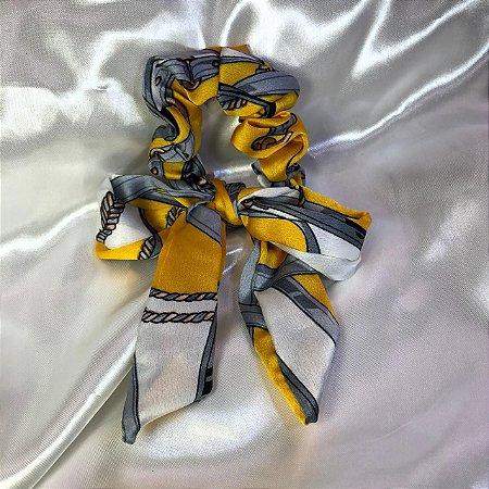Scrunchie Correntes Amarelo