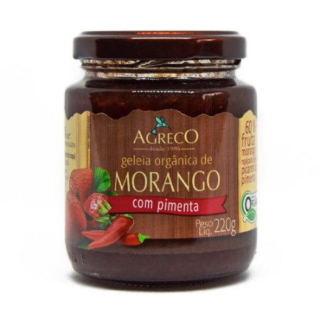 Geléia de morango orgânica com pimenta Agreco - 220g