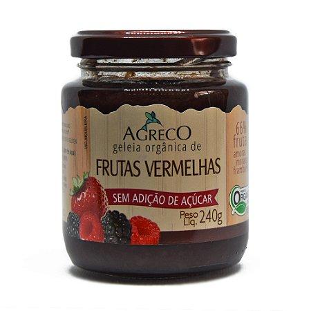 Geléia orgânica de frutas vermelhas sem açúcar Agreco - 240g