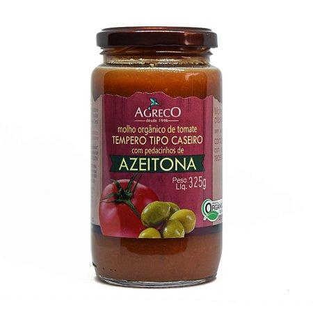 Molho de tomate orgânico com Azeitonas Agreco - 325g