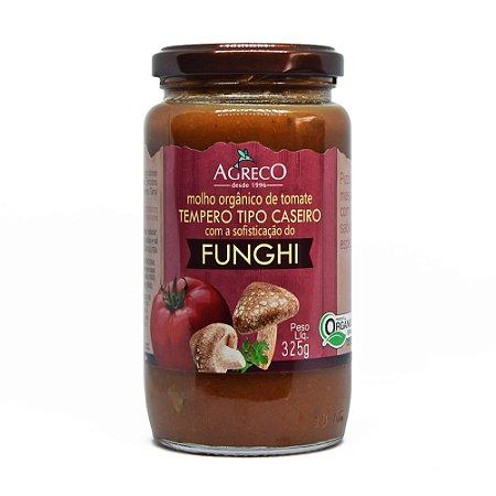 Molho de tomate orgânico com funghi Agreco - 325g