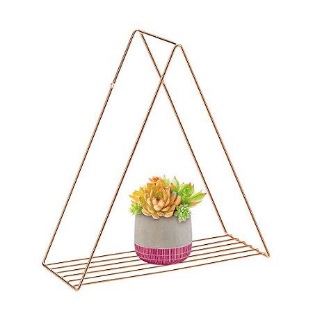 Prateleira Triangular Rose Gold