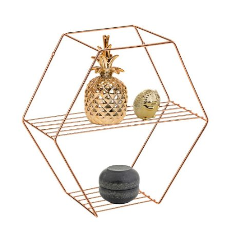 PRATELEIRA HEXAGONAL ROSE GOLD