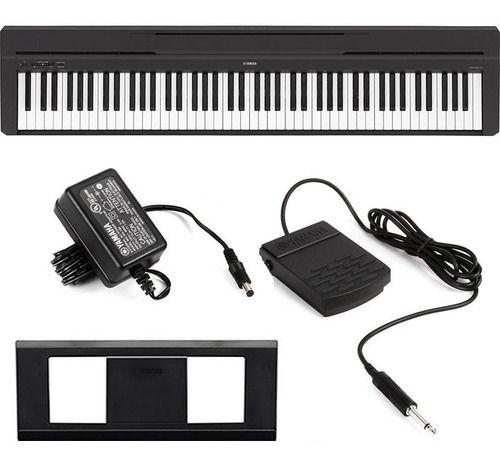 PIANO DIGITAL YAMAHA P45B COM PEDAL FONTE ESTANTE PARTITURA