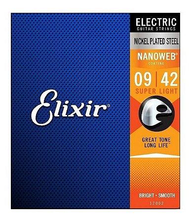ENCORDOAMENTO GUITARRA ELIXIR 0.09-042 SUPER LIGHT 12002