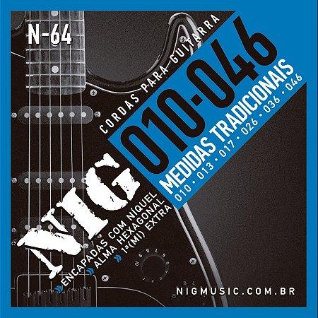 Encordoamento Guitarra Nig 0.10-046 N-64