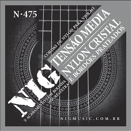 ENCORDOAMENTO VIOLÃO NIG NYLON TENSÃO MÉDIA N475 C/ BOLINHA