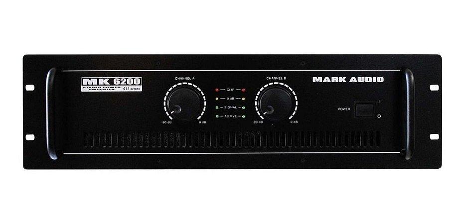 AMPLIFICADOR DE POTENCIA MARK AUDIO MK-6200 PRO