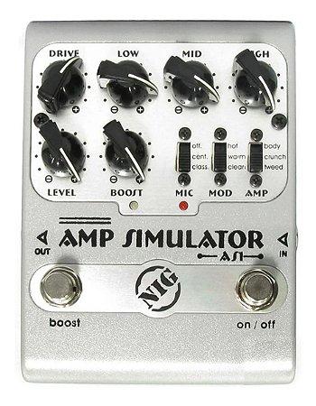 PEDAL DE GUITARRA NIG AMP SIMULATOR AS1