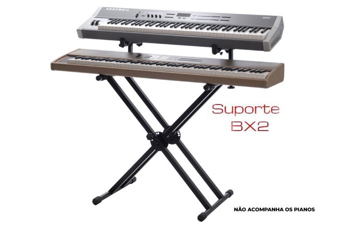 """SUPORTE IBOX P/02 PIANOS DIGITAL """"DUPLO X"""" BX2"""