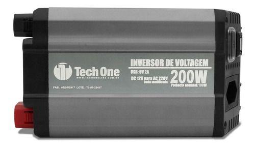INVERSOR DE VOLTAGEM TECH ONE 200W 12V PARA 220V