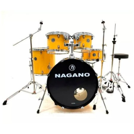 "BATERIA ACUSTICA NAGANO GARAGE ROCK 22"" YELLOW RACING"
