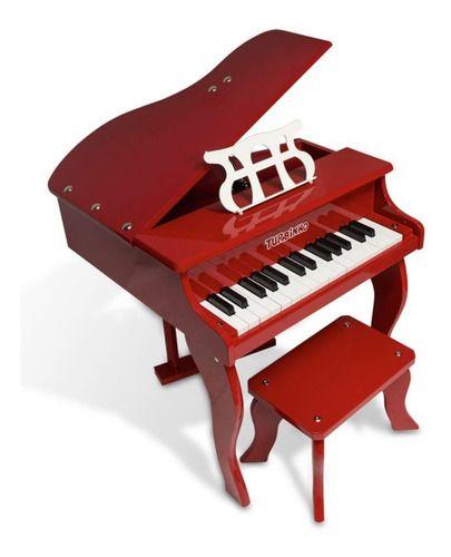 PIANO CAUDA INFANTIL TURBINHO PIANO 30 RED 30 TECLAS