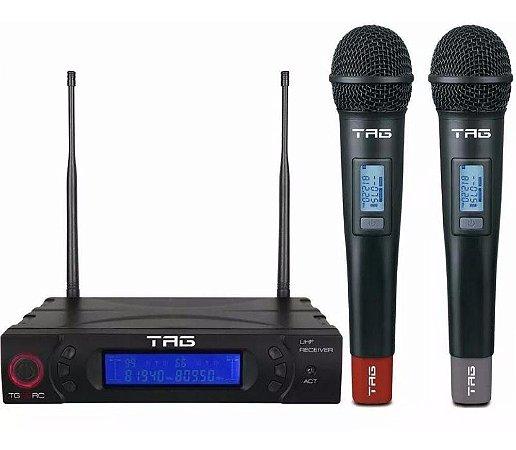 MICROFONE S/FIO MAO DUPLO TAG SOUND TG8802