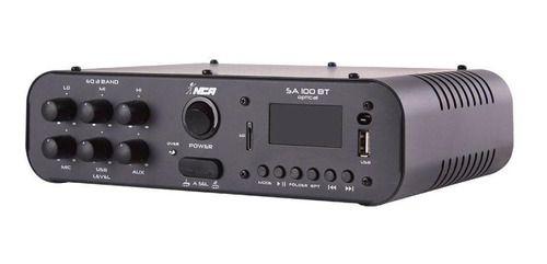 AMPLIFICADOR DE SOM AMBIENTE NCA SA100BT USB FM BT 100WATTS