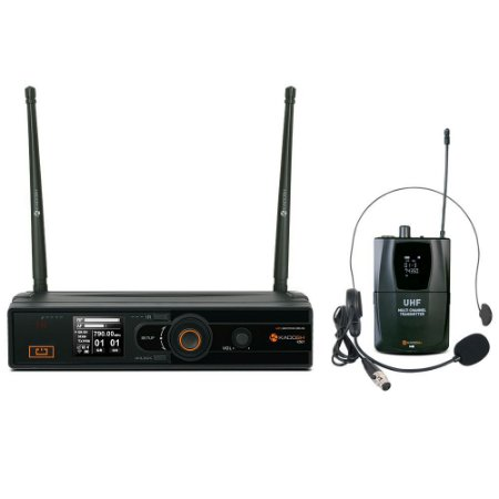 MICROFONE SEM FIO HEADSET KADOSH KDSW-501H UHF + NOTA FISCAL