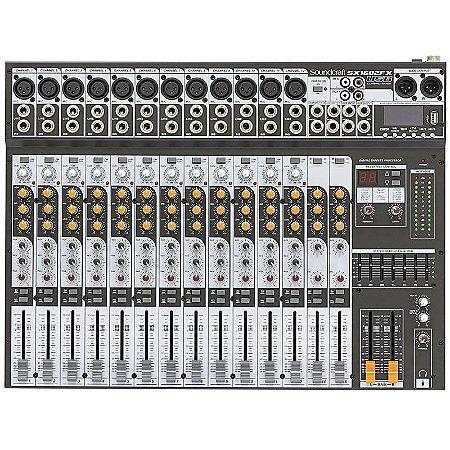 MESA DE SOM 12 CANAIS SOUNDCRAFT SX1602FX USB ORIGINAL SX 1602 FX