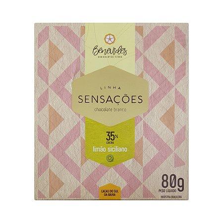 Benevides 35% Branco com Limão Siciliano - Barra de 80g