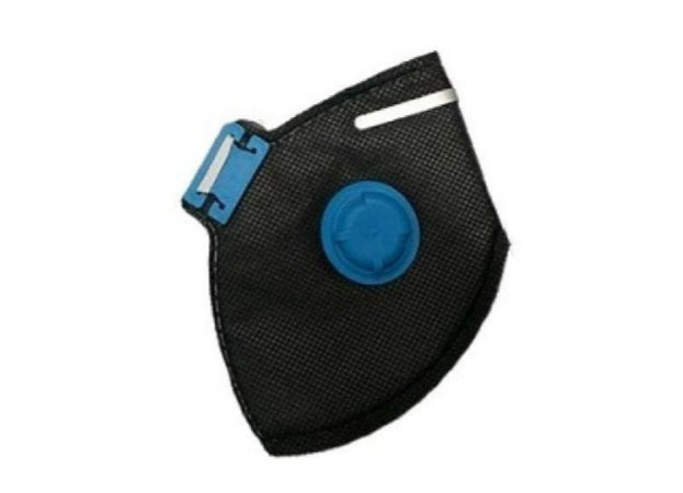 Kit com 10 Máscaras Dobráveis PFF2 S com Válvula Carvão