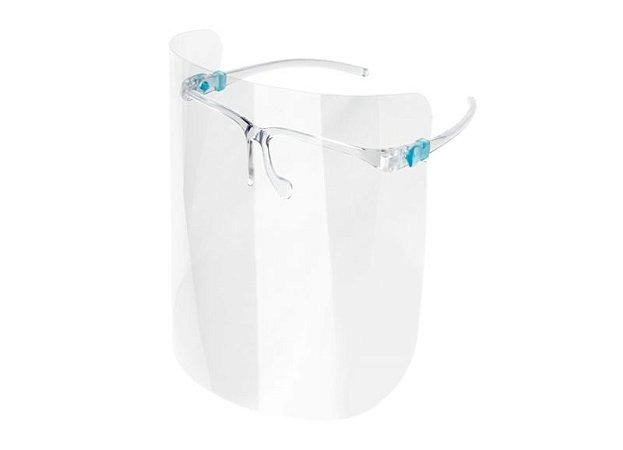 Kit com 5 Protetores Faciais Face Shield Transparentes Cronos