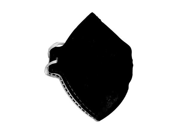 Kit com 10 Máscaras Dobráveis PFF2 S sem Válvula Carvão