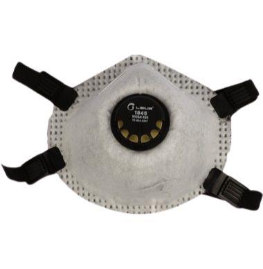 Kit com 05 Máscaras Tipo Concha PFF2 com Válvula R95 Carvão
