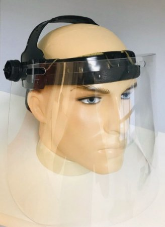 Protetor Facial Face Shield com Viseira Plana e Suporte Pino