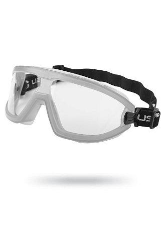 Óculos de Proteção Ampla Visão Aviator Cinza Antiembaçante
