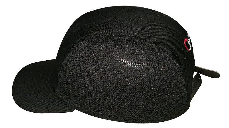 Boné Têxtil de Segurança Preto com Casquete